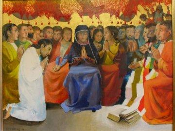 Pentecostés - Pentecostés, el don del Espíritu Santo. Arcabas. Un grupo de personas posando para la cámara.