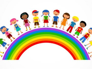 rainbow - rainbow with children.