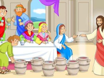 CUDA JEZUSA - JAKICH CUDÓW DOKONAŁA JEZUSA?. Grupa ludzi w kostiumach.