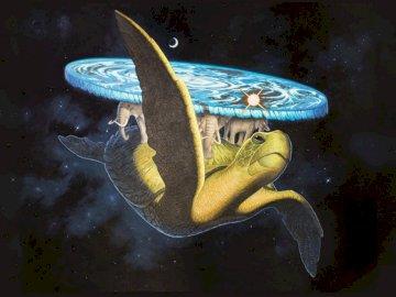 Wielki A'Tuin - Wielki A'Tuin jest olbrzymim gwiezdnym żółwiem (gatunek Chelys galactica)[1] ze Świata Dysku T