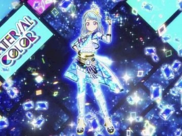 Cubo gráfico joya (グ ラ フ ィ ッ カ ル キ ュ ー ブ) - Color del material 品牌 的 Jeweling Appeal。 服裝 : Material Sapphire Coord。. Un primer pl