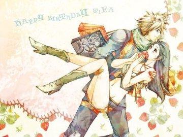 Final Fantasy - Tifa and Cloud perfect couple love.