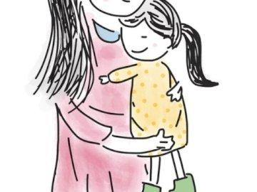 Día de la Madre - Ilustración para el día de la madre. Un primer plano de un logotipo.