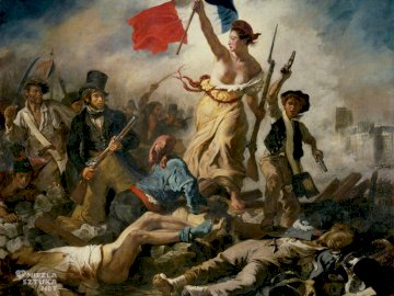 Freedom Delacroix - Freedom leading the people to the barricades.
