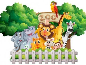 Kindergarten in Janowicy / Topic: In the zoo - Zoo animals, exotic animals,. A close up of a toy.