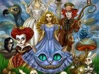 Alice in Wonderland - ALICE IN WONDERLAND. Karakters van de film Alice in Wonderland. Hou je van puzzels? Genieten!