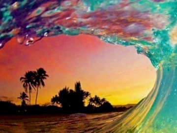 Aloha Wave - .......Aloha Wave........ A close up of a colorful background.