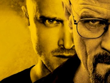 Walter or Jesse - Walter White and Jesse Pinkman. A close up of a man wearing glasses and looking at the camera.