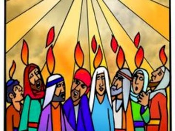 Pentecost - Arrange the puzzles that illustrate the Solemnity of Pentecost.