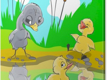 The ugly duckling - A fairy tale about an ugly duckling that turns into a beautiful swan.