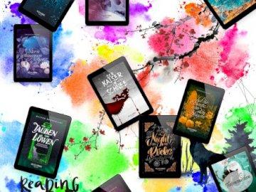 Alea Libris publica - Sorteo Dreamangelbooks. Un montón de artículos que posan para una foto.