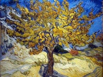 Le mûrier par Vincent van Gogh - Le mûrier par Vincent van Gogh. Un gros plan d'un arbre.