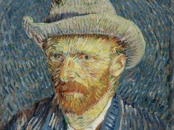 Vincent van Gogh - Autoportrait - Vincent van Gogh - Autoportrait au chapeau de feutre gris.