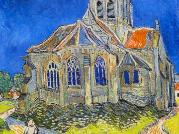 Van Gogh, Church at Auvers - picture of Vincent Van Gogh, Church at Auvers