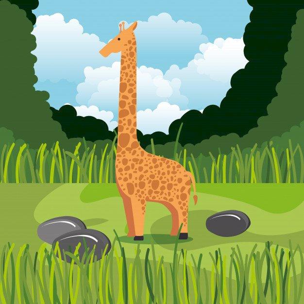 Καμηλοπάρδαλη-16el - Παζλ - καμηλοπάρδαλη. Εξωτικά ζώα (4×4)
