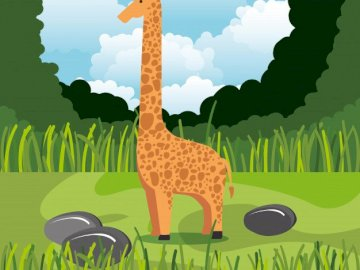 Giraffe-16el - Puzzle - giraffe. Exotic animals.