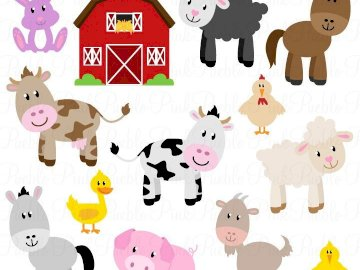 farm  animals for kids - this is apuzzle about a farm