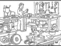 Technológiai műhely - Azonosítsa azokat a tárgyakat, amelyeknek nem szabad a technológiai műhelyben lenniük