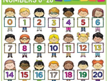 numbers 1-20 - puzzle about numbers from 1 -20