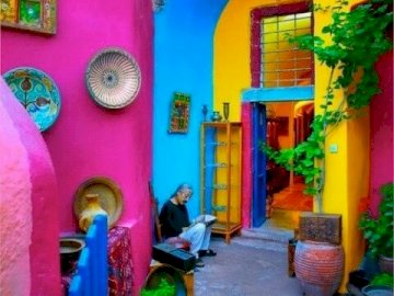 Colorful Mexico - Beautiful colorful houses in Mexico