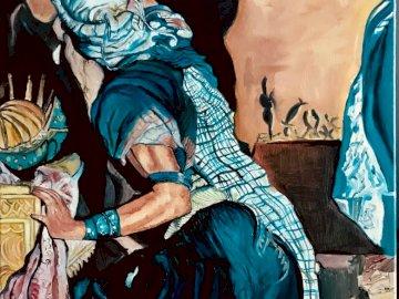 Art arabe - art arabe, art tribal, folk. Un groupe de personnes portant des costumes.