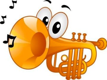 Musical instrument - Solve the following puzzle. A drawing of a cartoon character.