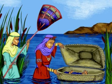 Moses saved from the waters - The little Jew saved by Pharaoh's daughter