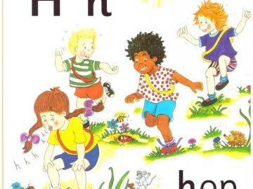 Son H de Jolly Phonics - La Flashcard pour le son «h» de Jolly Phonics