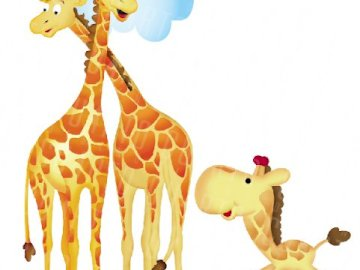 Giraffenfamilie - Die Giraffe ist eine Artiodactyl-Säugetierart der für Afrika typischen Familie der Giraffidae. Es