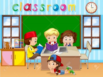 SALLE DE CLASSE - Enfants en classe.