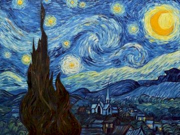 starry Night - Van gogh painting, starry night