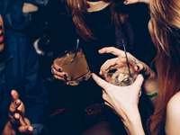 Close-up van drankjes in de club