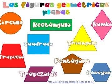 obrázek ploché postavy - ploché geometrické obrázky.