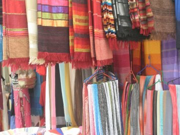 The colors of the souk - Souk of Marrakech Morocco.