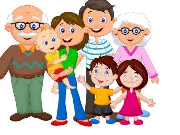 Meine Familie - Kinderrätsel Meine Familie. Eine Spielzeugpuppe.