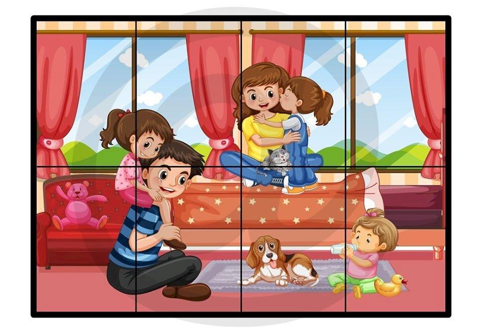 Rodzinna zabawa - Ułóż puzzle. Kogo widzisz na obrazku (5×5)