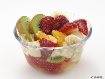 Mariella - reconstruct the image of the fruit salad. A bowl of fruit.