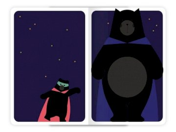 Uncle Teddy and his little bear - at night, uncle Teddy doesn't sleep he is a big hero and his little bear is a little hero. A cl