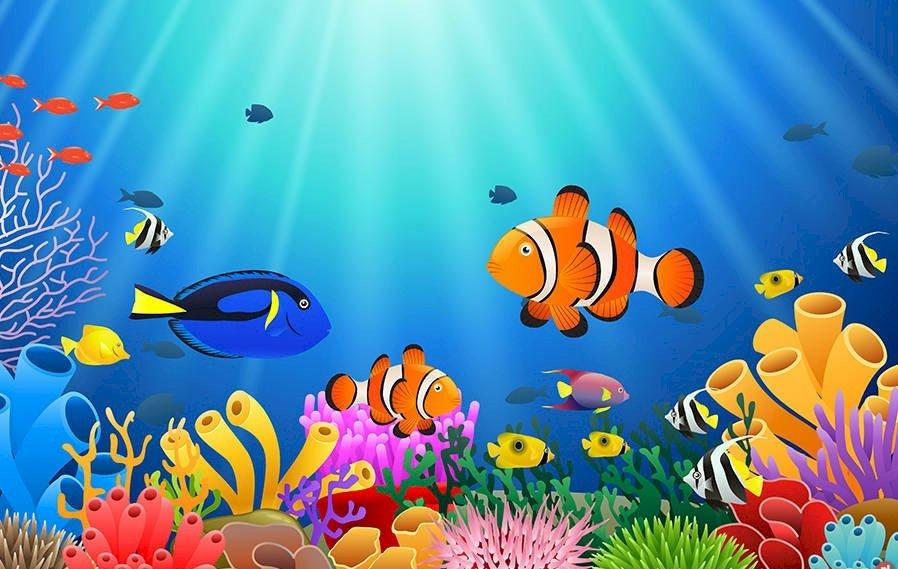 Mediul apei - Puzzle pentru copii care învață despre subiectul apei și despre organismele care trăiesc în ea (3×2)