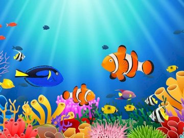 Water environment - Puzzles for children learning about the subject of water and the organisms living in it.