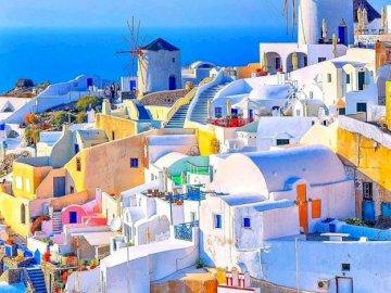 Grec Santorin - Vacances à Santorin