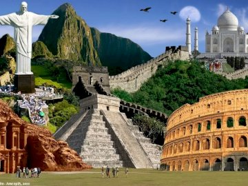 7 wonders of the world - Seven wonders of the world - the most beautiful buildings