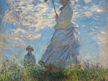 Woman with an umbrella - Claude Monet - Woman with an umbrella - Claude Monet.