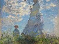 Γυναίκα με μια ομπρέλα - Claude Monet