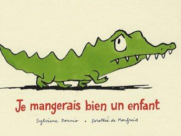 "I'll eat a child well - cover - book - Cover of the book ""Je mangerai bien un enfant"", by Sylvianne Donnio and Dorothée de Monfr"
