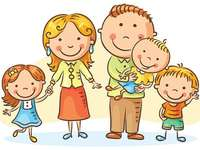 Mijn familie - De familieleden. De familie. Het gezin bestaat uit verschillende leden: vader, moeder, zoon, dochter