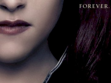 Bella Cullen Forever - Bella Cullen is finally a vampire. Forever. A close up of a woman looking at the camera.