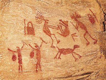 Paintings - Prehistoric cave paintings
