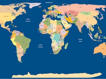 WORLD MAP - AT LEAST 60 PIECES