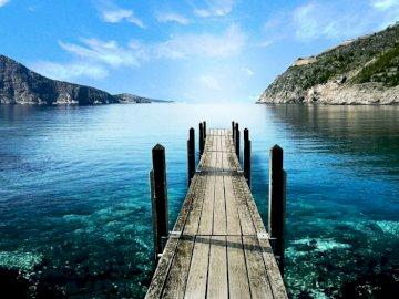 jetty, mountains, sea - amazing landscape, fabulous views